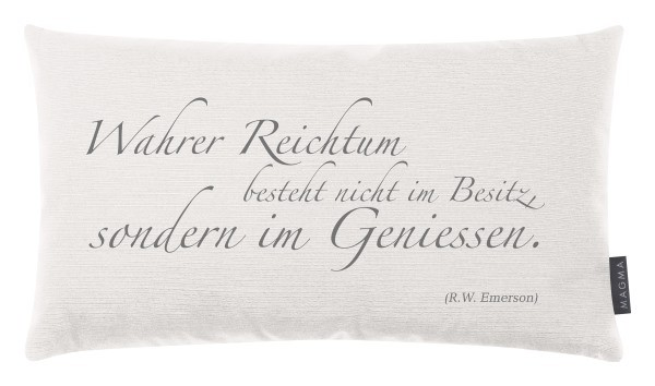 Dekokissen: Wahrer Reichtum ...