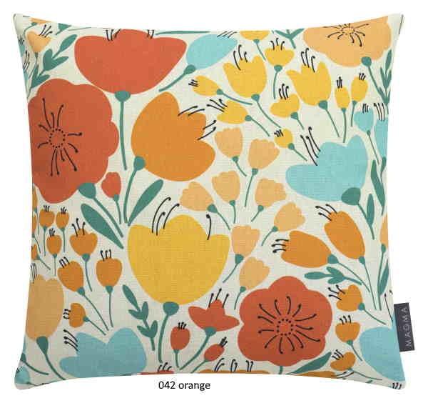 Kissenhülle Retro Flowers orange