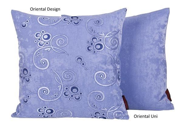 Oriental Kissen Uni blau