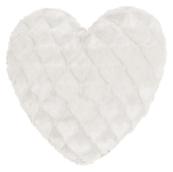 Dekokissen Fluffy Hearts Herzkissen weiss