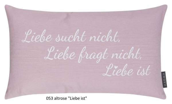 """Dekokissen Liebe 30x50 cm """"Liebe ist"""""""
