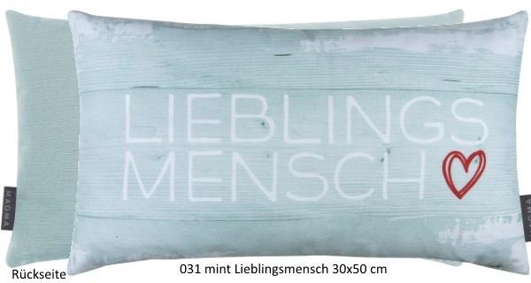 Kissen Liebling 30x50 cm mint Lieblingsmensch
