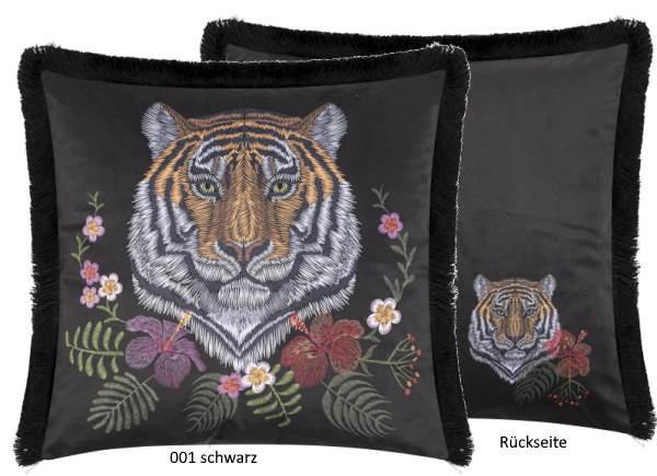 Kissenhülle Tiger schwarz