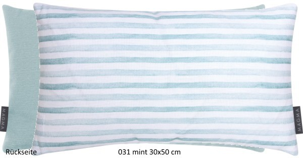 Kissenhülle Stripe mint 30x50 cm