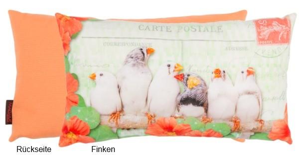 Dekokissen Bunte Vögel - Finken