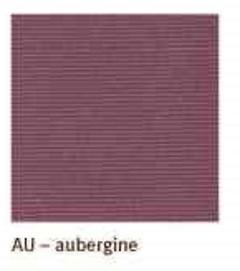 Kissenhülle Como aubergine 40x40 cm