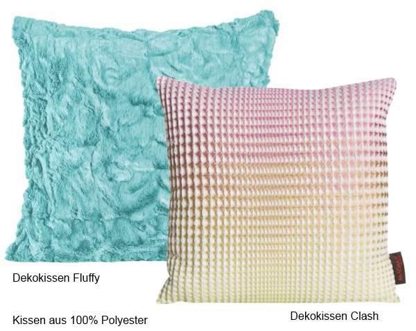 Dekokissen-Fluffy-und-Clash-aus-reinem-Polyester