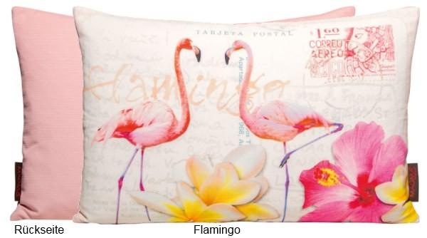 Dekokissen Bunte Vögel - Flamingo