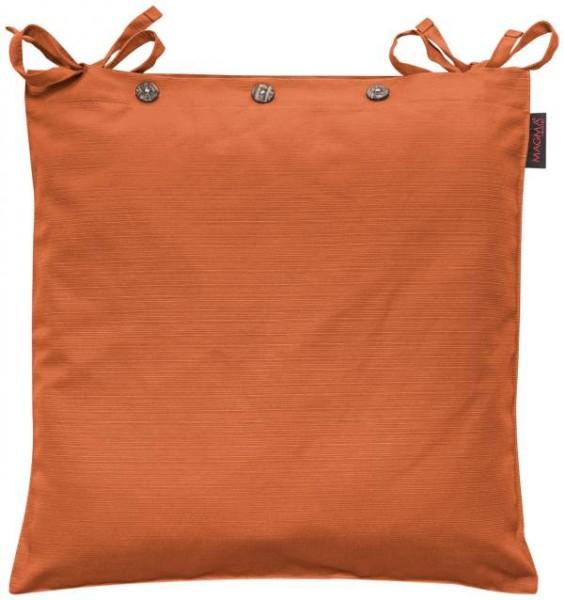 Stuhlkissen Fino Klassik mit Knöpfen 042 orange