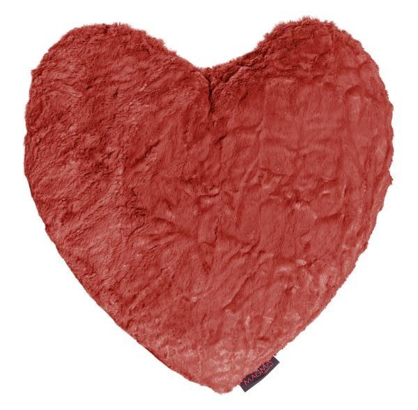 Fluffy Herzkissen rot