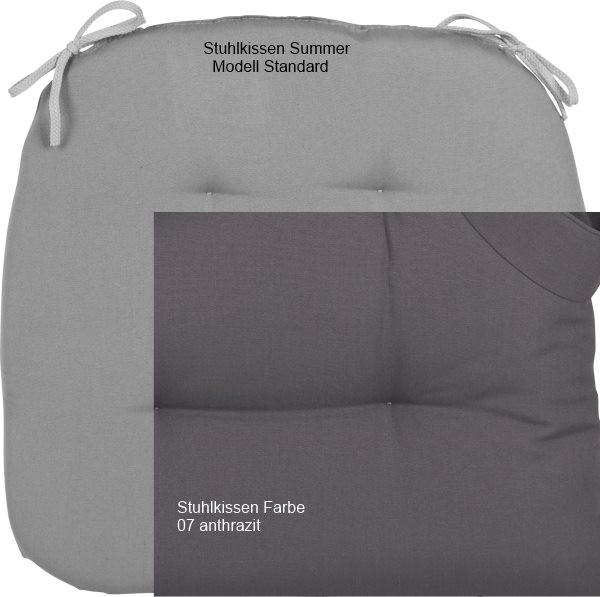 Stuhlkissen Summer Modell Standard anthrazit