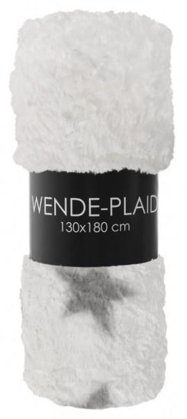 Wendeplaid FluffyStars 02 weiß / 02 weiß