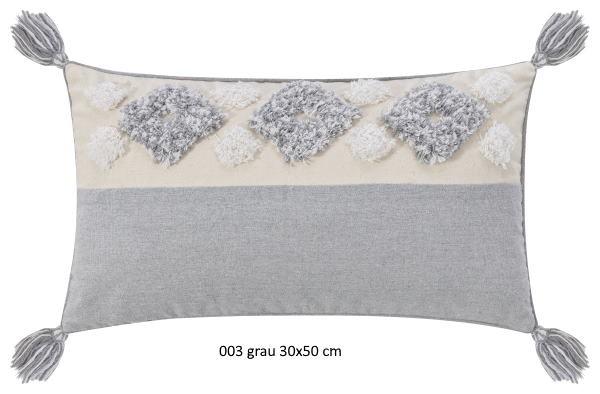 Kissenhülle Moki grau 30x50 cm